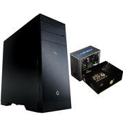GAMEMAX 轻风健侠 全塔静音机箱 黑色+碳金500W