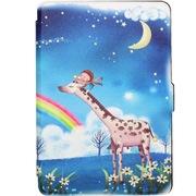 海天D 高级彩绘Kindle paperwhite保护套 亚马逊阅读器磁扣休眠保护套paperwhite专用 彩虹鹿