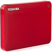东芝 V8 CANVIO高端分享系列2.5英寸移动硬盘(USB3.0)3TB(活力红)产品图片主图