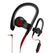 Beats Power 2 挂耳式运动耳机 黑色 iphone线控带麦