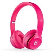 Beats Solo2 独奏者第二代 头戴式贴耳耳机 洋粉色 带麦