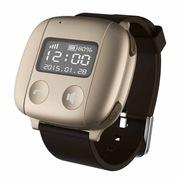 爱牵挂 S2 pro 老人智能定位手表 心率监测手环GPS卫星定位手表手机 SOS通话手表 炫丽金