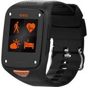 爱牵挂 老人儿童安全智能手表(心率检测 跌倒判定 自动SOS电话话定位 含一年基本通讯资费) 黑色 标准版