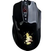 黑爵 AJ30有线游戏鼠标 7色呼吸灯 黑