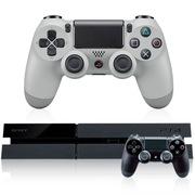索尼 PS4国行黑色主机+20周年纪念手柄套装
