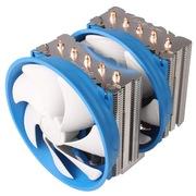 乔思伯 DT512 多平台CPU散热器 (5热管/双塔鳍片/双12CM风扇/金属扣具/可调速风扇/附带硅脂)