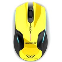 新贵  E500 无线游戏发光鼠标 黄色产品图片主图
