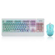 雷柏 V110 混光游戏键鼠套装 白色产品图片主图
