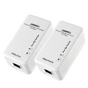 ZINWELL PWQ-5101R套装 500M电力芯片150M无线WiFi电力猫(PWQ-5101R无线路由+PWQ-5101无线AP)