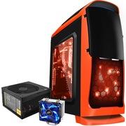 至睿 蜂巢GX10机箱 橙色+安钛克 VP450P电源+九州风神 玄冰400 CPU散热器(套装)