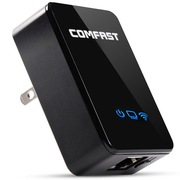 COMFAST CF-WR150N 150M智能无线中继器 WIFI信号放大器 迷你AP路由器 全黑设计