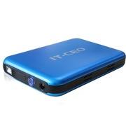 IT-CEO IT-735 USB2.0/ESATA双接口移动硬盘盒 3.5英寸台式电脑硬盘 适用SATA串口固态硬盘SSD 砂蓝色