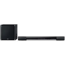 YAMAHA YAS-203 家庭影院Soundbar 回音壁条形音箱 无线低音炮 蓝牙音响 2件套装 黑色产品图片主图