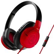铁三角 ATH-AX1iS RD 头戴式手机通话耳机 红色
