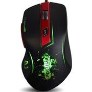 黑爵  一血鼠标 AJ100 黑色 激光电竞游戏鼠标