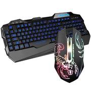 雷腾 K1套装 发光游戏键盘鼠标套装 黑色