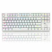 ROYAL KLUDGE RG987 RGB幻彩背光式机械键盘87键白色黑轴