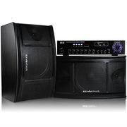 金正  SM-963 家庭KTV音响套装专业卡拉OK功放机支持点歌系统 (黑色)