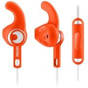 飞利浦 SHQ1305OR 耳塞式运动耳机 大品牌 声音不错 有线 防汗防溅水 轻盈 免提通话