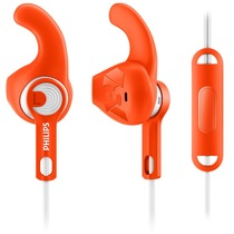 飞利浦 SHQ1305OR 耳塞式运动耳机 大品牌 声音不错 有线 防汗防溅水 轻盈 免提通话产品图片主图