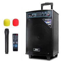 先科 ST-1002WM 便携式移动户外拉杆有源音响 大功率电瓶插卡广场舞音箱(黑色)产品图片主图