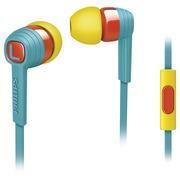 飞利浦  SHE7055BR/00 Indies 狂热系列 抗缠结扁平线缆 入耳式手机耳机 立体声重低音(翡冷翠)