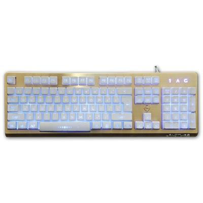 金刚狼K002土豪金 金属背光游戏键盘产品图片1
