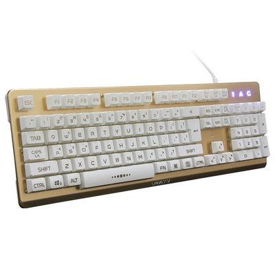 金刚狼K002土豪金 金属背光游戏键盘产品图片3