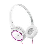 先锋  SE-MJ512-PW 头戴式便携折叠时尚出街耳机 粉色