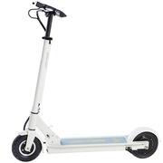 九悦 A1白色 电动滑板车锂电池随身车成人迷你可折叠代步车自行车电动车