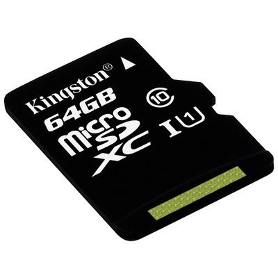 金士顿 读速80Mb/s 64GB UHS-I Class10 TF(Micro SD)高速存储卡产品图片3