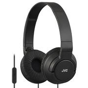 JVC HA-SR185-B简约不简单 时尚监听耳机 一键线控 无缝设计不夹头(黑色)