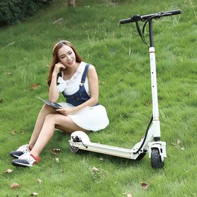 乐步 锐动T3(白色) 电动滑板车锂电池随身车成人迷你可折叠代步车自行车电动车 5档变速便捷安全产品图片4