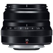 富士 XF35mm F2.0 R WR 黑色 标准定焦镜头 复古造型 全天候设计 大光圈小体积 扫街挂机必备