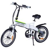 九悦 Z1 白色电动折叠自行车变速电动车锂电池助力电动车电瓶车电动平衡车产品图片主图