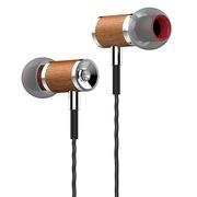 兰士顿 W8 鲁班木匠系 檀木入耳式木质Hi-Fi手机耳机 手工打磨强劲原音 白色