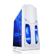 先马 影子战士幽灵版全透白电脑游戏机箱U3接口全侧透背线电源下置