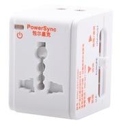 包尔星克 PWC-ERTUN069 全球通用电源转换器  万能转换插头插座 出国旅行必备插座USB充电白色