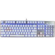 优派 KU520合金版机械键盘 104键单色背光青轴 白银色