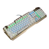 狼派 X06 虚空风暴机械键盘104键 背光红轴土豪金混彩版金属游戏键盘产品图片主图