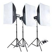 神牛 DP600W三灯 摄影灯套装影楼灯闪光灯 摄影棚拍照灯人像套装