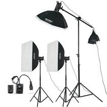 神牛 SK400W三灯 电商拍摄用 摄影棚 摄影灯 影室灯闪光灯人像套装摄影器材产品图片主图