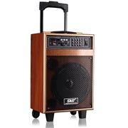 先科 ST-805WM 便携式移动拉杆户外音响 大功率电瓶插卡广场舞音箱带无线话筒(木纹色)