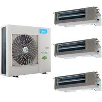 美的 MDVH-V100W/N1-520i(E1)家庭中央空调 两室一厅60-80㎡ 豪华型一拖三套装产品图片主图
