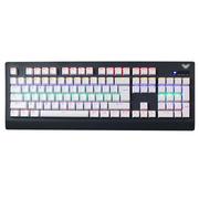 狼蛛 鬼王三区机械键盘 模向混光 游戏键盘usb104键 青轴(灰白)
