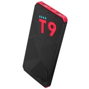 台电 T9轻薄聚合物移动电源10000毫安充电宝2.1A快充 智能体感唤醒灯 黑红色