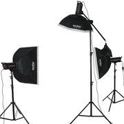 神牛 闪客400W三灯 高速摄影灯动态摄影棚 模特摄影棚人像套装