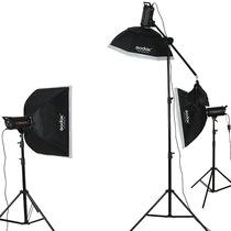 神牛 闪客400W三灯 高速摄影灯动态摄影棚 模特摄影棚人像套装产品图片主图