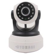 现代 摄像头高清网络WIFI无线网络摄像头机远程智能监控家居WIFI8000白色
