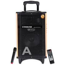 金正 AVS-618F(黄金甲12号)12寸广场舞音响户外蓝牙音箱 插卡扩音器拉杆音箱(黑色)产品图片主图